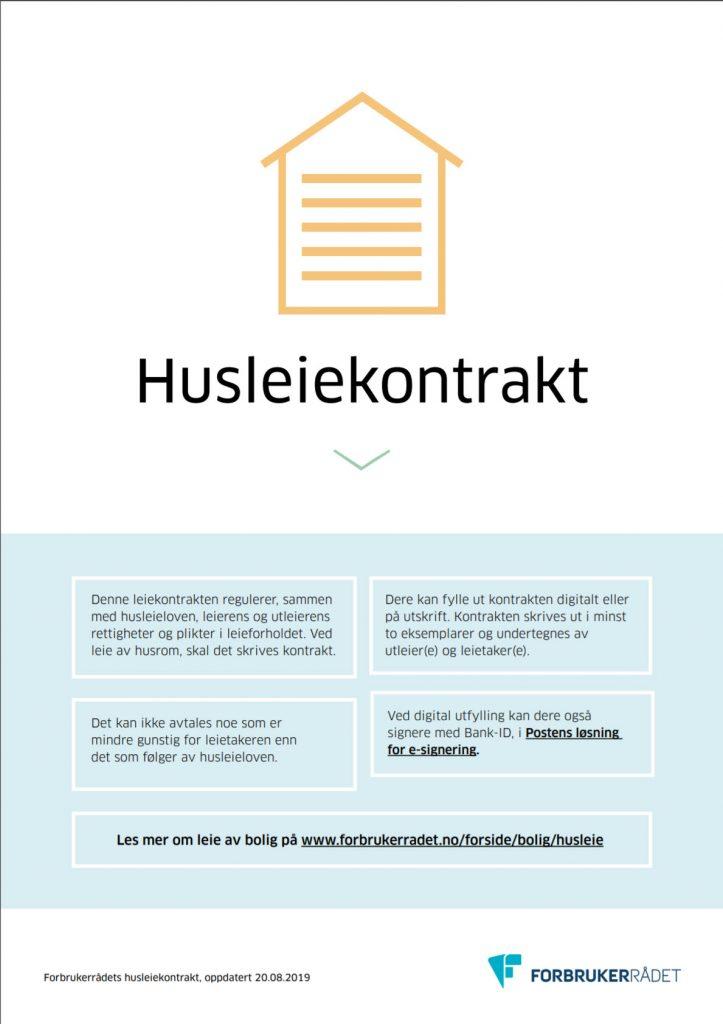 Gratis husleiekontrakt / leieavtale i pdf